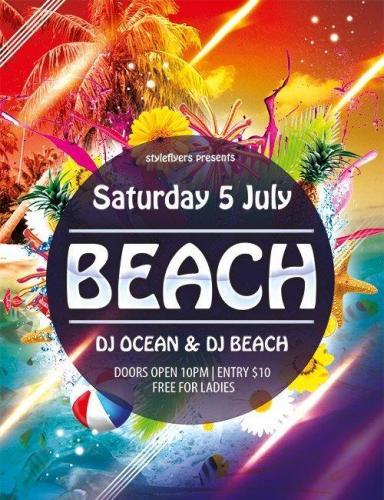 Beach Flyer PSD Template