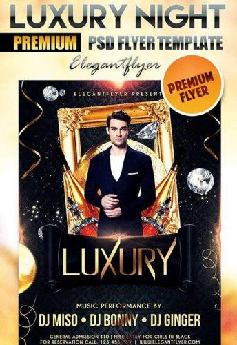 Luxury Night Flyer PSD Template