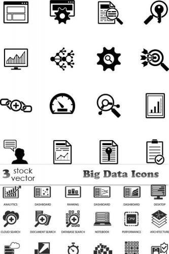 Vectors - Big Data Icons
