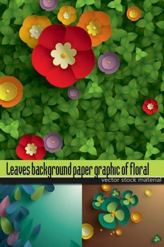 Leaves background paper graphic