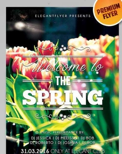 Welcome to the Spring Flyer PSD Template