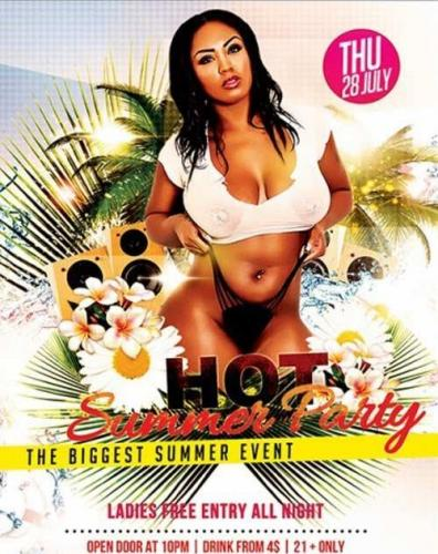 Hot Summer Party Premium Flyer Template