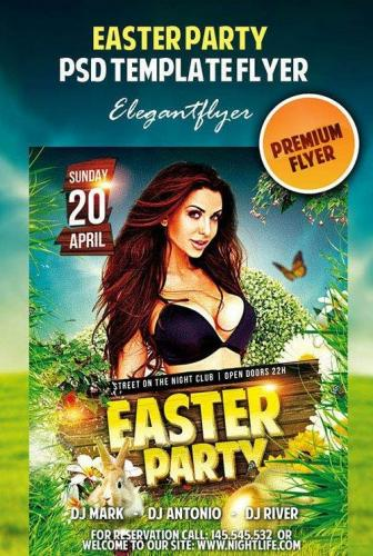Easter Party Premium Flyer PSD Tempate
