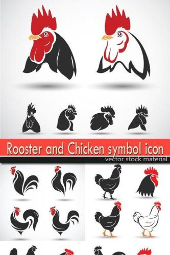 Rooster and Chicken symbol icon