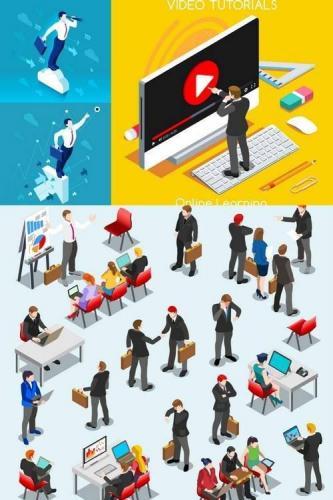 Business People Isometric