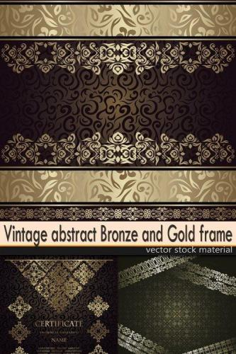 Vintage abstract Bronze and Gold frame