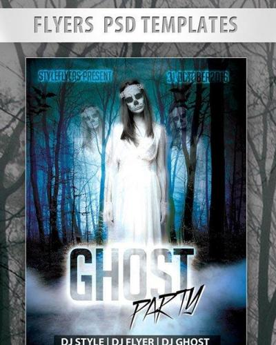 Ghost Party Flyer PSD Template