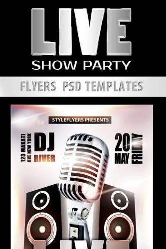 Live Show Party Flyer PSD Template