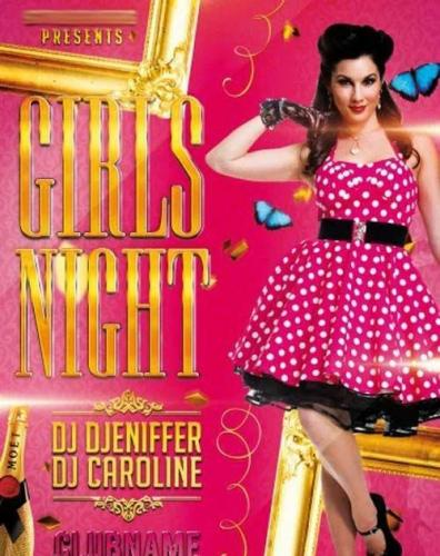 Girls Night Party Flyer PSD Template