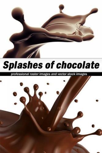 Splashes of chocolate