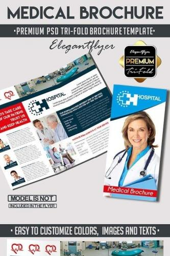 Medical Tri-Fold PSD Brochure Template