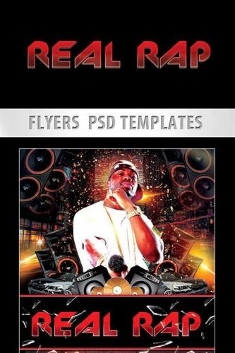 Real RAP Music Party Flyer PSD Template