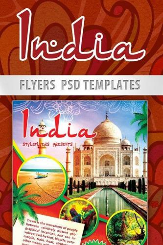 India Flyer PSD Template