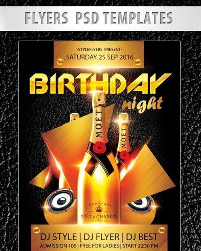 Birthday Night Flyer PSD Template