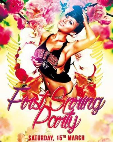First Spring Party PSD Premium Flyer Template
