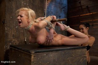 Kink.com- Bound on screen in an amazingly tough hogtie. Finger fucked_made to cum_skull-fucked _amp; tormented!