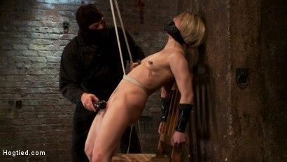 Kink.com- Severely gagged_flogged_clamped_a crotch rope arching her back with devastating multiple orgasms!