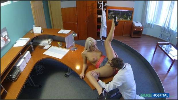 Fakehub.com- Perfect Sexy Blonde Gets Probed By Doctor On Reception Desk