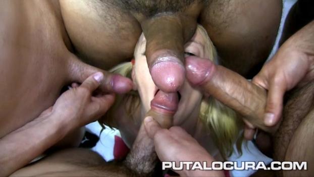 Putalocura.com- Rubitah: su primer bukkake - Rubitah