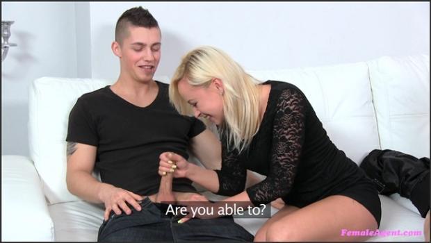 Fakehub.com- Nervous Boyfriend Watches As Hot Blonde Agent Makes His Girlfriend Cum