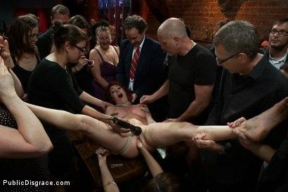Kink.com- Redheaded Slut Ass Fucked at Crowded Party